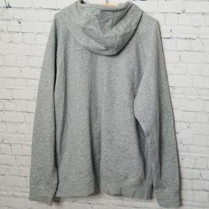 Jordan Shirts - Mens Air Jordan full zip gray hoodie